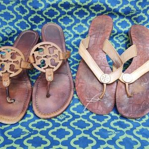 LOT OF 2 Tory Burch Sandals **Need Repair**